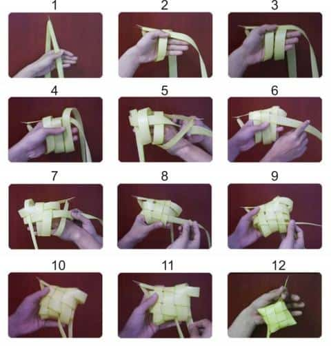 Cara Cepat dan Mudah Membuat Anyaman Ketupat