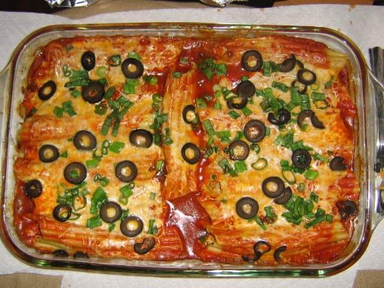 Mexican Recipe: Mexican Manicotti