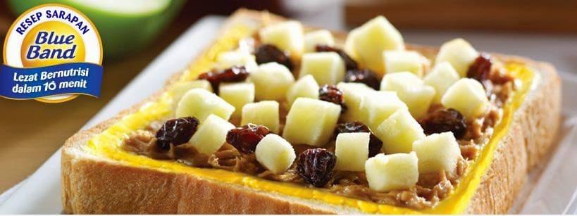 Resep Sarapan: Roti Kacang Tabur Apel
