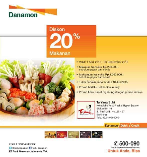 Promo Diskon 20% Di Ta Yang Suki Bandung