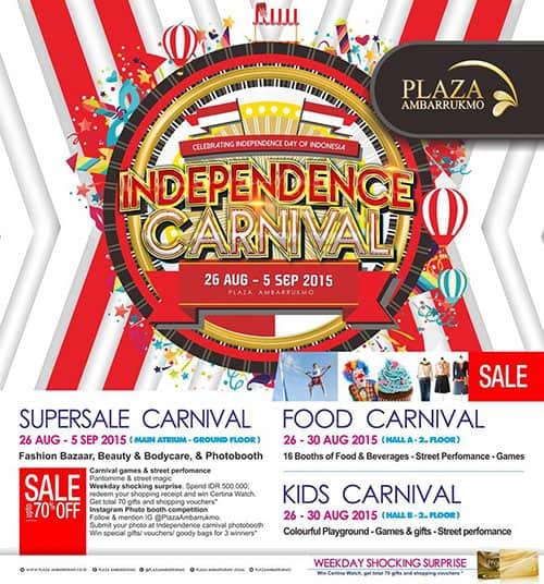 Independence Carnival di Plaza Ambarrukmo Yogyakarta