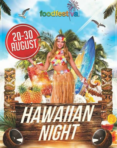 Food Festival Hawaiian Night Bazaar di Surabaya