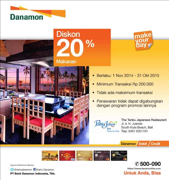 Promo Diskon 20% Di The Tunku Japanese Restaurant Bali