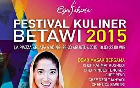 Festival Kuliner Betawi 2015 di La Piazza Kelapa Gading