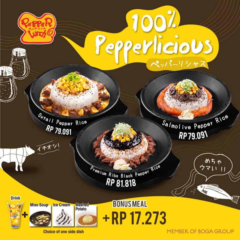 Pepper Lunch Promo Menu Baru Mulai Dari Rp. 79.091,-