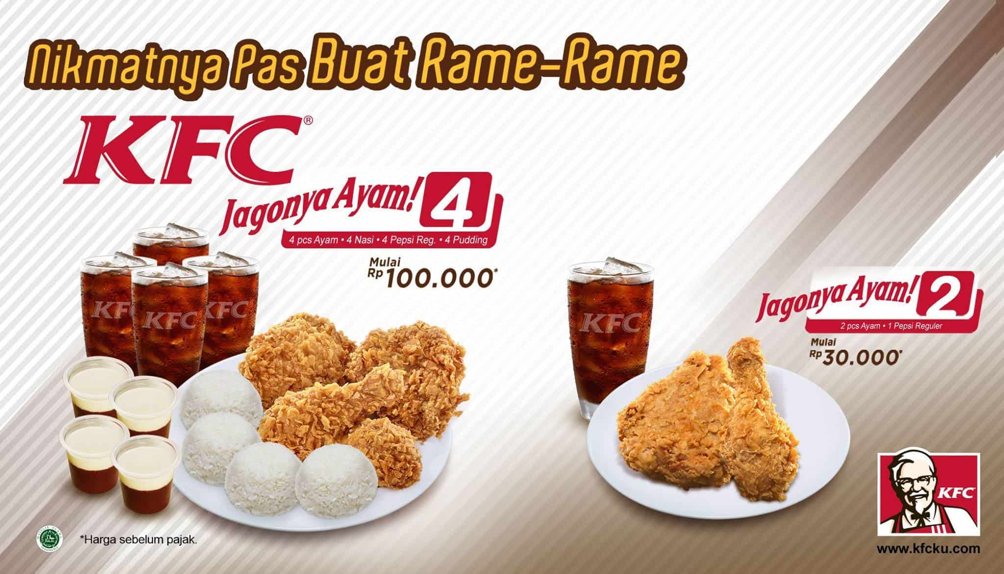 KFC Promo Paket Jagonya Ayam Mulai Dari Rp. 30.000,-