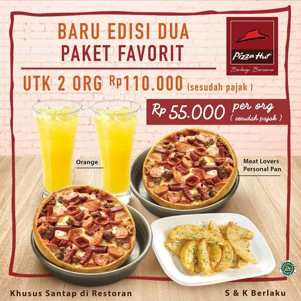 Pizza Hut Promo Menu Baru Edisi Dua Paket Favorit