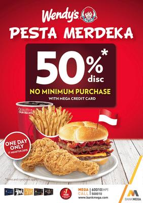 Wendy's Promo Pesta Merdeka 50%