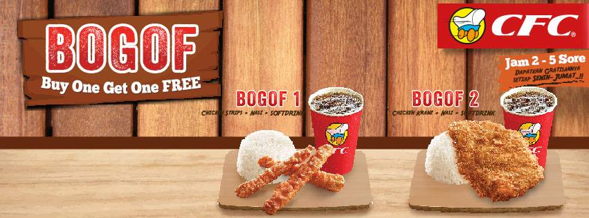 CFC Promo BOGOF – Buy One Get One Free