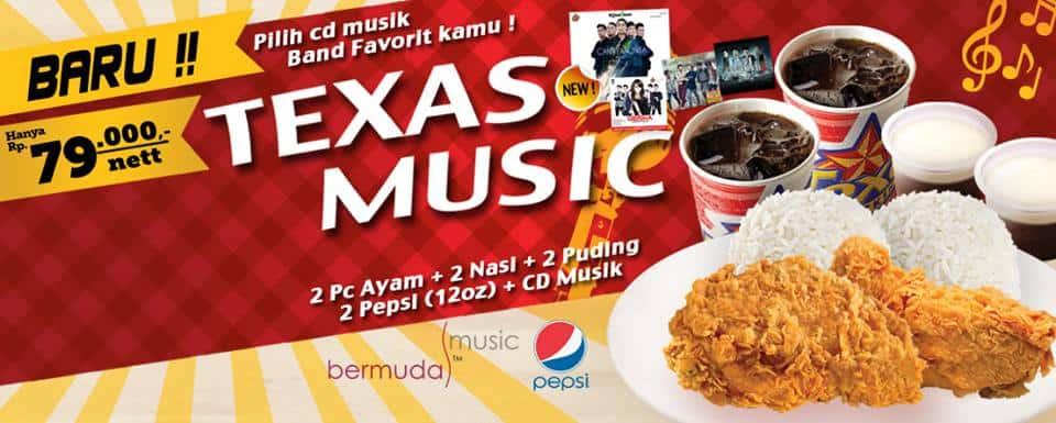 Texas Chicken Promo Menu Hemat Texas Music Hanya Rp. 79.000,-