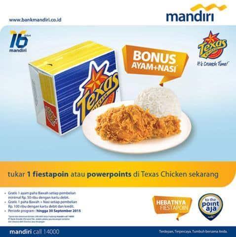 Texas Chicken Promo Menu Gratis Bonus Ayam dan Nasi