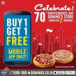 Domino's Pizza Promo Buy 1 Get 1 via Mobile App