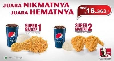 KFC Promo Paket Super Mantap