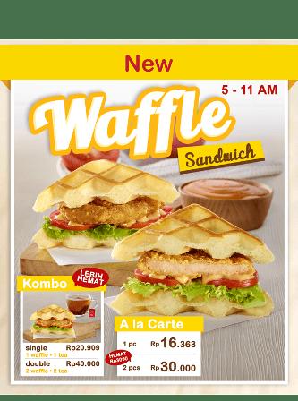 KFC Promo Waffle Kombo Mulai Dari Rp. 20.909,-