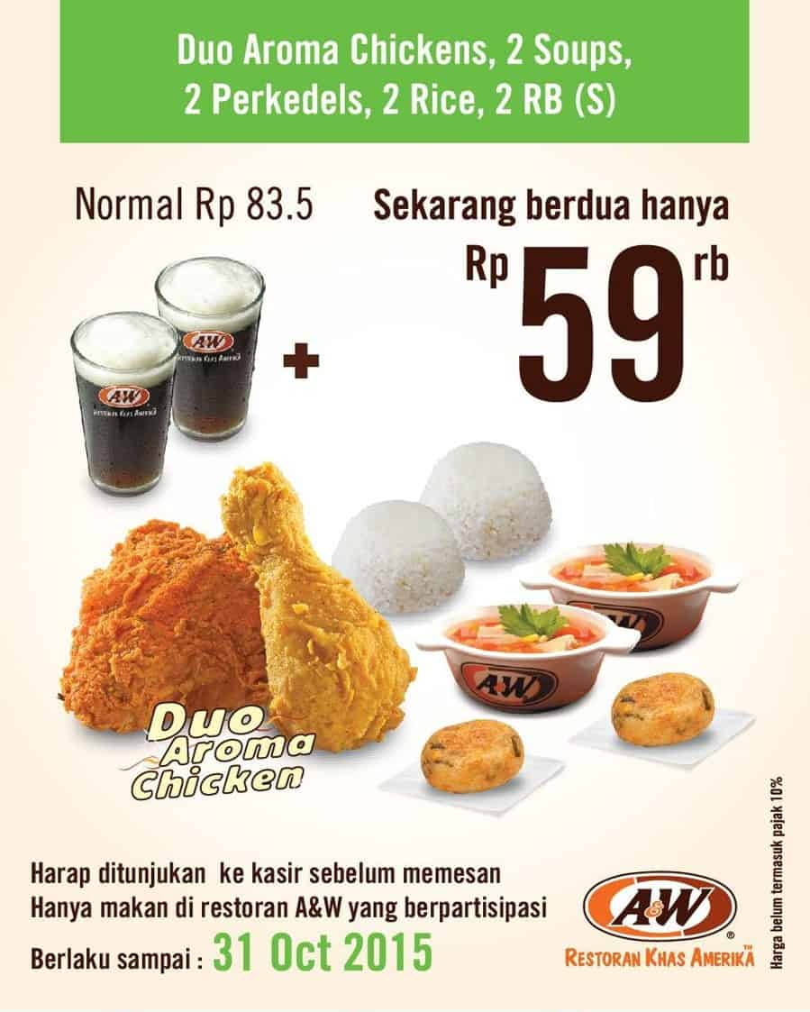A&W Restaurant Promo Duo Aroma Chickens