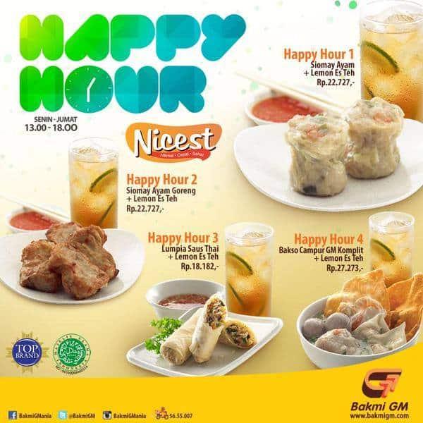 Bakmi GM Promo Happy Hour Harga Mulai Rp. 18.182,-