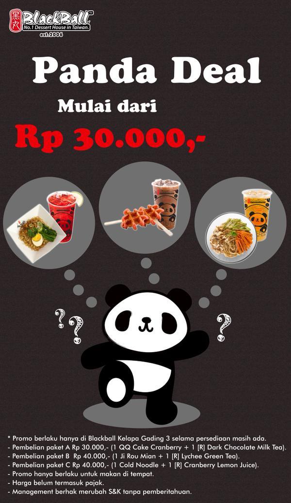 Blackball Promo Panda Deal Mulai dari Rp. 30.000,-