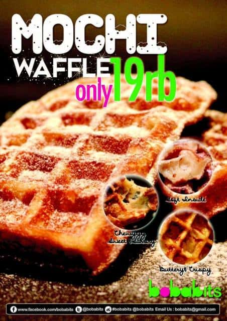 Bobabits Promo Mochi Waffle Cuma Rp 19 Ribu!