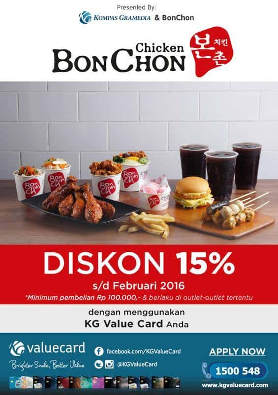 BonChon Promo Diskon 15% dengan KG Value Card