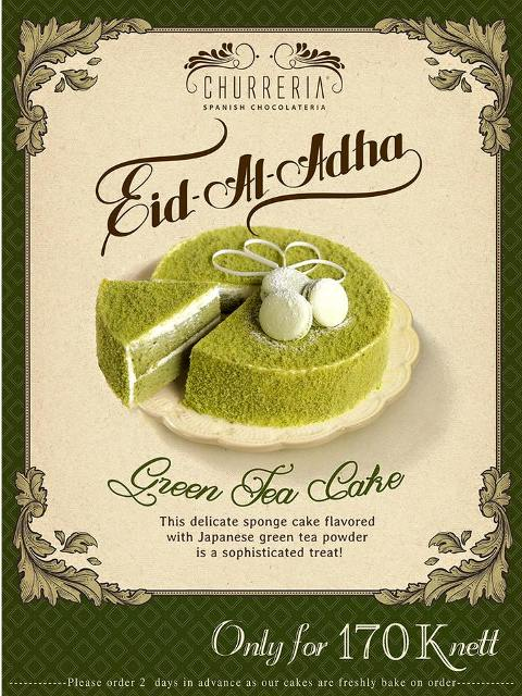 Churreria Promo Menu Spesial Eid Al-Adha, Green Tea Cake