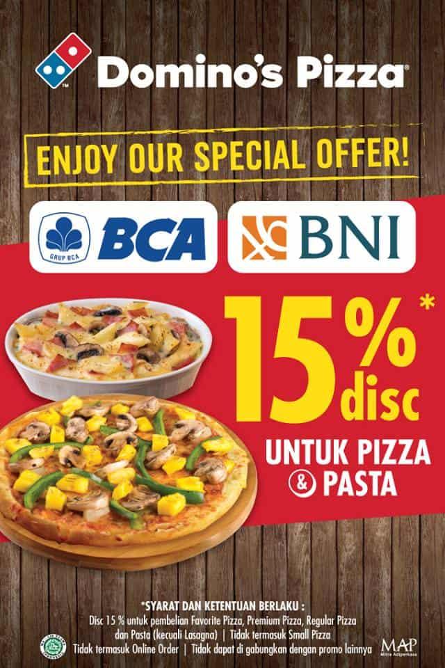 Domino's Pizza Promo Spesial Diskon 15% untuk Pizza dan Pasta