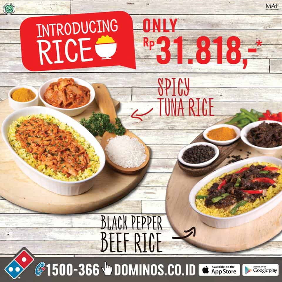 Domino's Pizza Promo Menu Baru 'Introducing Rice' Hanya Rp. 31.818,-