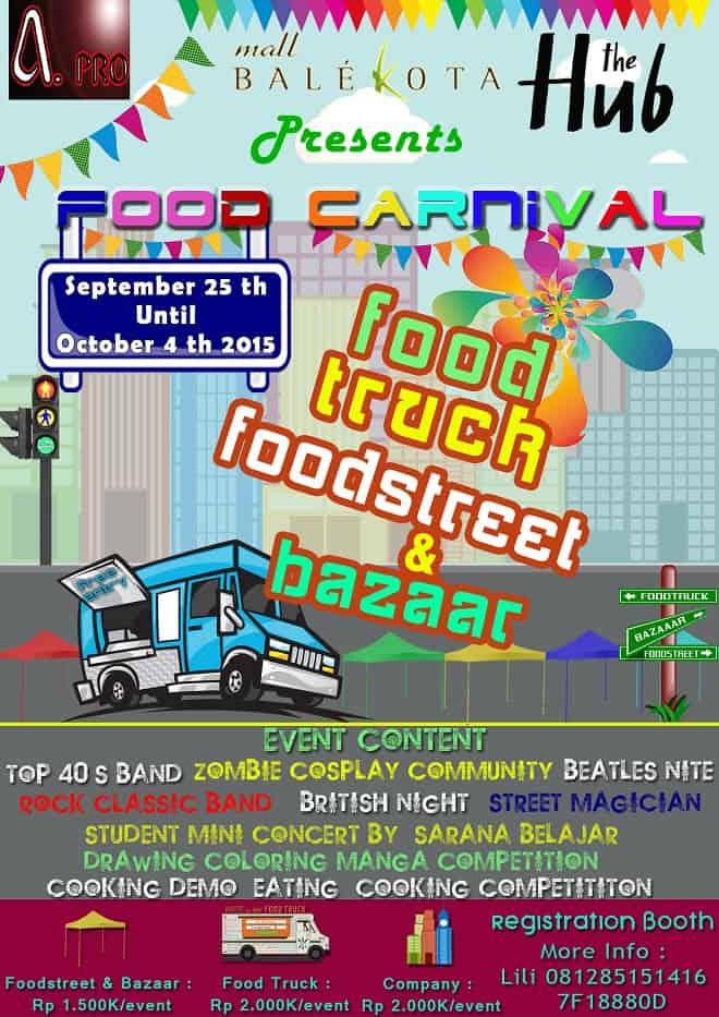 Food Carnival: Food Truck, Food Street & Bazaar di Mall Bale Kota