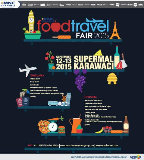 MNC Channels Food and Travel Fair 2015 di Supermal Karawaci