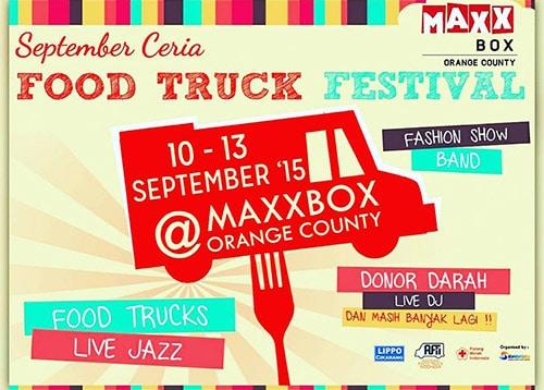 Food Truck Festival di Maxx Box Orange County Cikarang