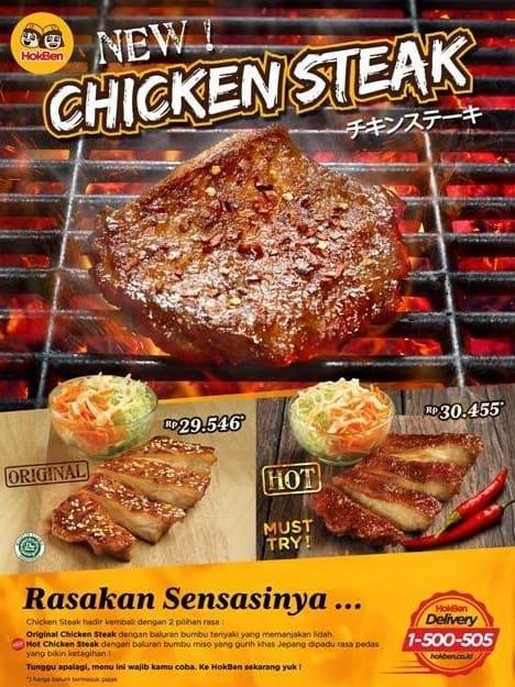 Hoka Hoka Bento Promo Menu Baru Chicken Steak Harga Mulai Dari Rp. 29.546,-