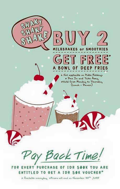 Hummingbird Eatery Promo Shaky Deal Buy 2 Get Free*