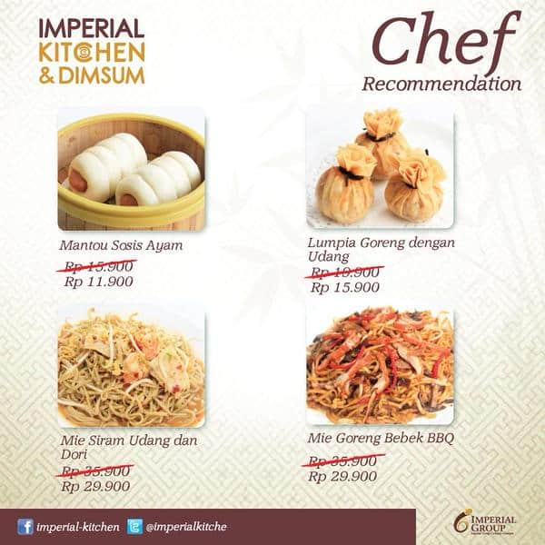 Imperial Kitchen and Dimsum Promo Turun Harga Makanan Chef Recommendation