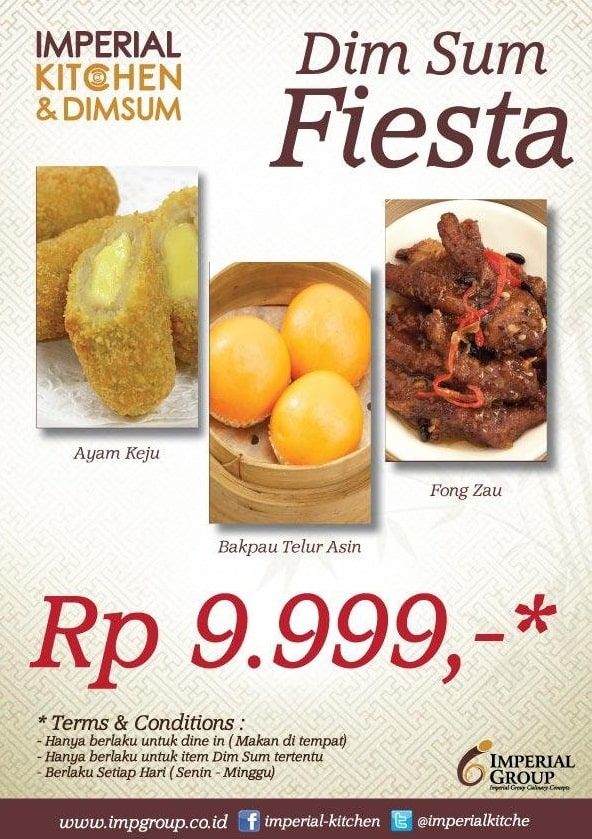 Imperial Kitchen Promo Menu Hemat Dim Sum Fiesta Hanya Rp 9.999,-