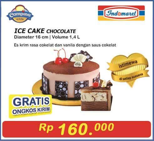 Indomaret Promo Campina Ice Cake Chocolate Hanya Rp. 160.000,- Gratis Ongkos Kirim