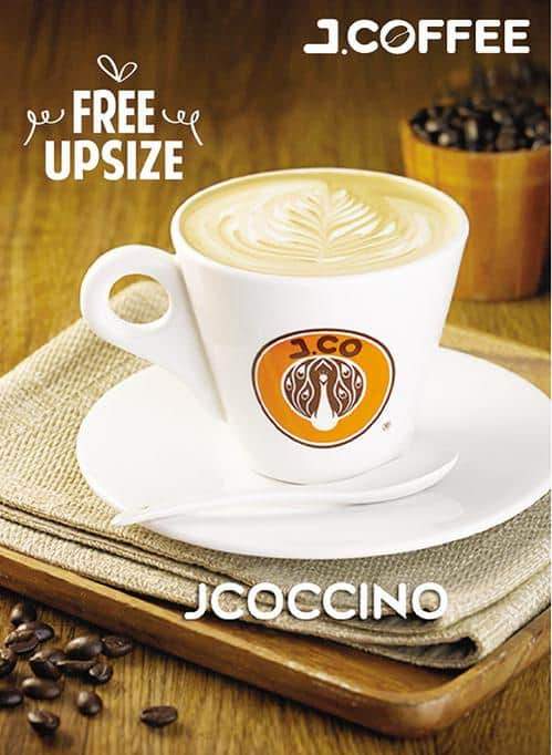 J-Co Coffee Free Upsize