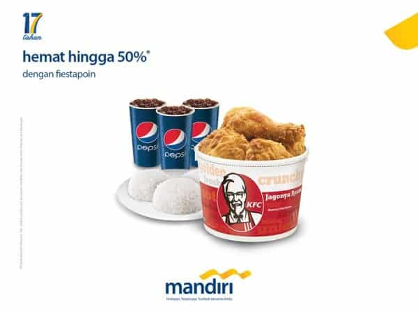 KFC Promo Hemat Hingga 50% dengan Mandiri Fiestapoin