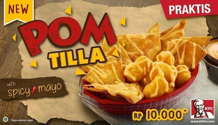 KFC Promo Menu Baru Poom Tilla with Spicy Mayo Hanya Rp. 10.000,-