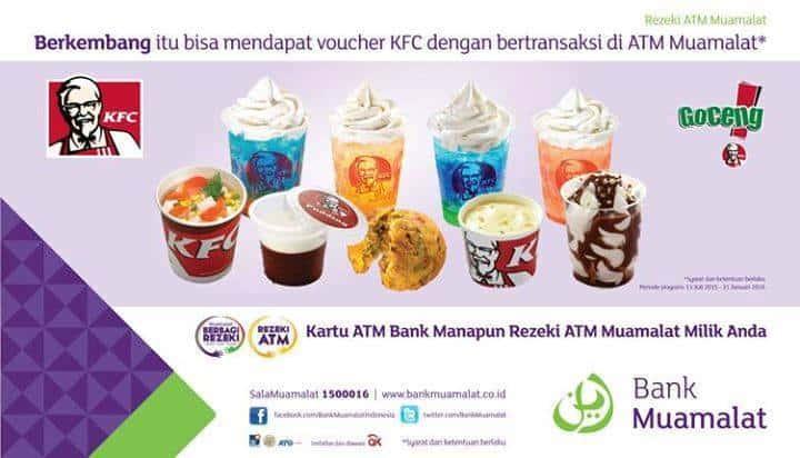 KFC Promo Rezeki Muamalat Gratis Voucher Makan