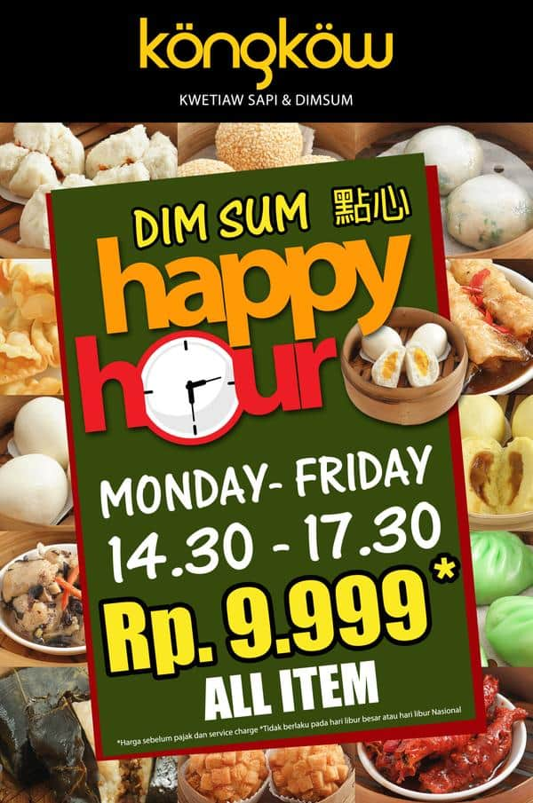 Kongkow Promo Dimsum Happy Hour Hanya Rp. 9.999,- All Item