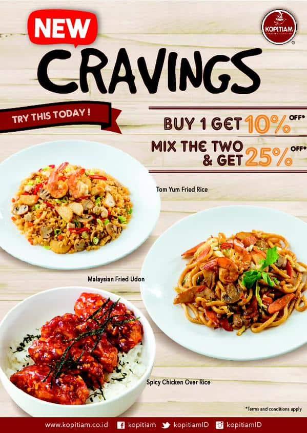 Kopitiam Promo New Cravings Diskon Hingga 25%