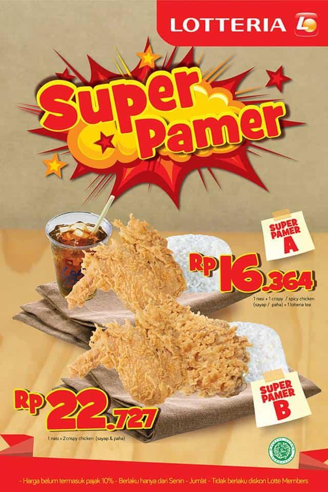 Lotteria Promo Super Pamer Harga Mulai Rp. 16.364,-