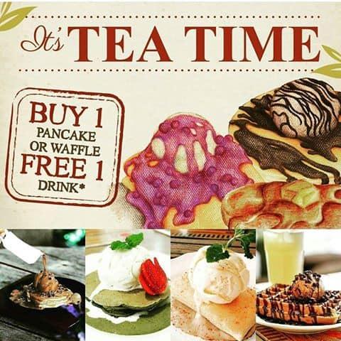 Nanny Pavillion Promo Tea Time Buy 1 Pancake Free 1 Drink