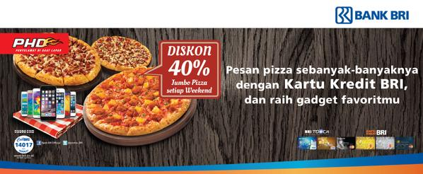 PHD Pizza Hut Promo Delivery Diskon 40%