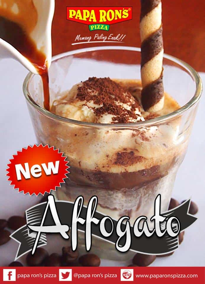 Papa Ron's Pizza Promo Menu Baru Affogato