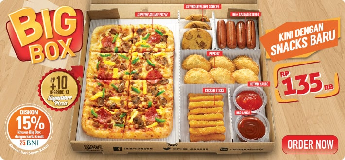 PHD Pizza Hut Promo Big Box Diskon 15%