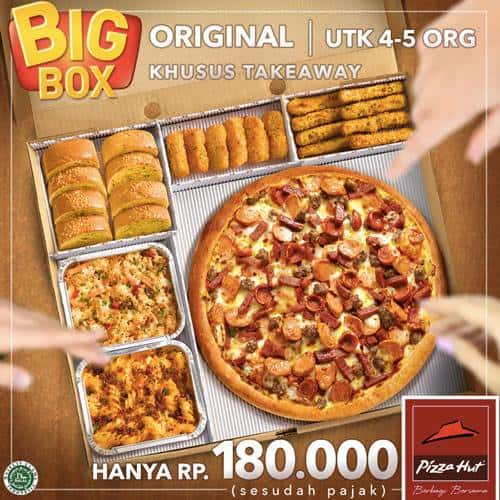 Pizza Hut Promo Big Box Original Khusus Takeaway Hanya Rp. 180.000,-