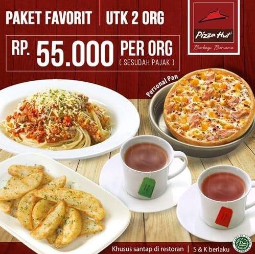 Pizza Hut Promo Paket Favorit Hanya Rp. 55.000,- Per Orang