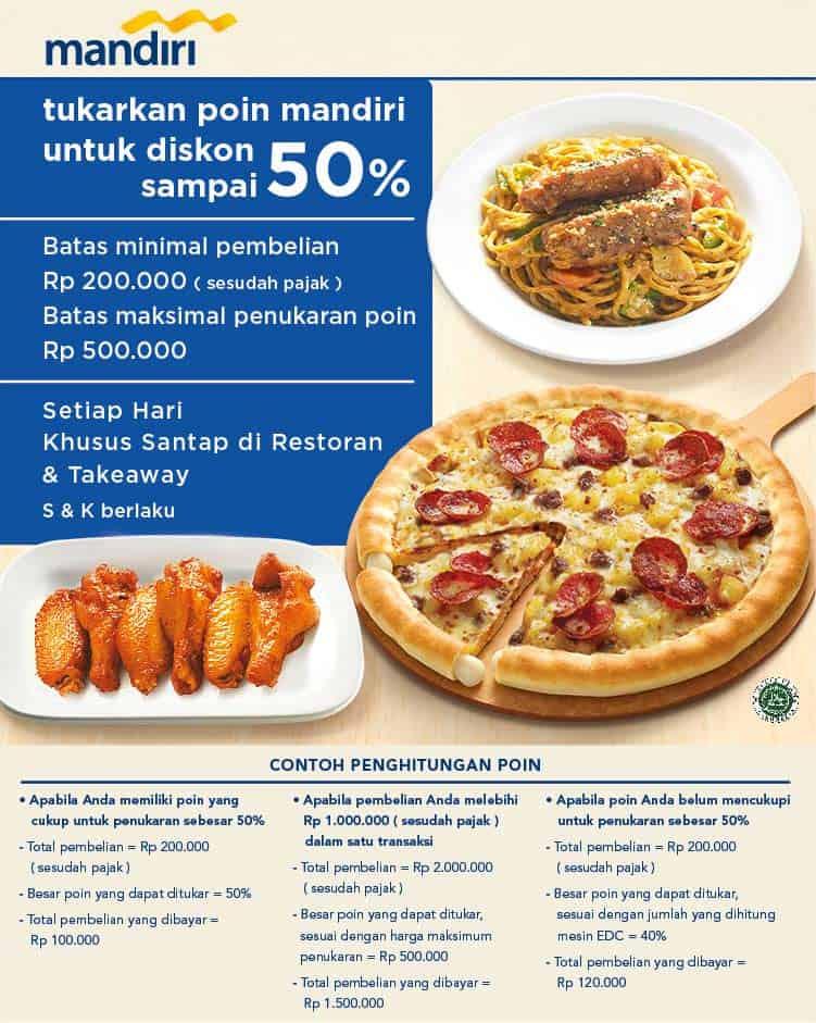 Pizza Hut Promo Diskon Sampai 50% dengan Poin Mandiri