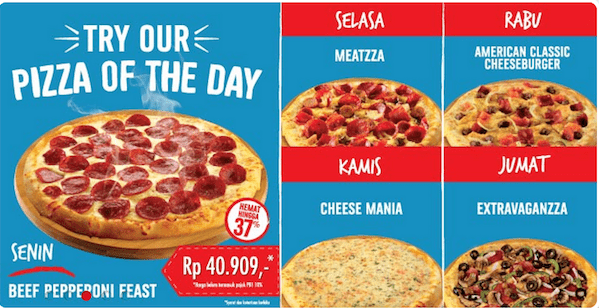 Dominos Pizza Promo Try Our 'Pizza of The Day' Hemat Hingga 37%
