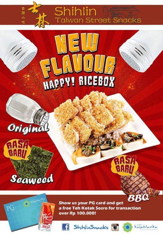 Shihlin Snack Promo New Flavour Free Teh Kotak Sosro